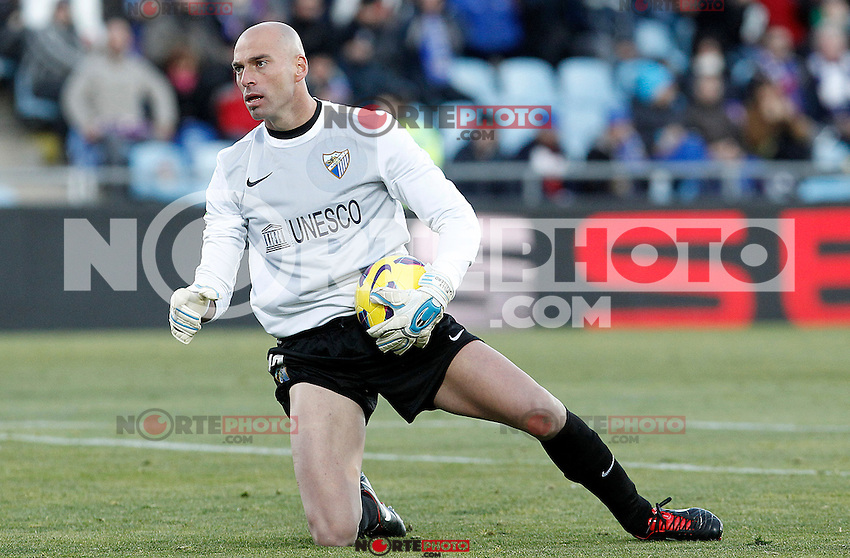 Malaga's Willy Caballero during La Liga match.December 01,2012. (ALTERPHOTOS/Acero) ©/NortePhoto