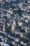 Oxford , the Radcliffe Camra ( round building ) dominating  the centre, surrounded by Oxford University college buildings