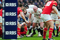 Dan Cole of England goes on the charge. RBS Six Nations match between England and Wales on March 12, 2016 at Twickenham Stadium in London, England. Photo by: Patrick Khachfe / Onside Images