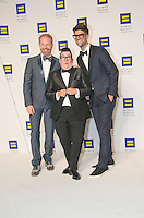 Washington DC,September 10, 2016, USA:  Lea DeLaria, Jessie Tyler Fergunson and Justin Matika attends the 20th Annual Human Rights Campaign (HRC) dinner takes place in Washington DC. Speakers and entertainment includes, Senator Tim Kaine, D-VA, Congressman John Lewis, D-GA, Nyle DiMarco, first Deaf person to win America's Top Model(Cycle 22) and Dancing with the Stars (Season 22) Actor Billy Porter, singer Estelle and actor Samira Wiley.  Patsy Lynch/MediaPunch