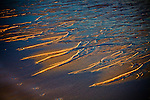 Sand patterns at sunrise at Coast Guard Beach, Eastham, Cape Cod National Seashore, MA, USA
