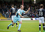Dundee v St Johnstone....29.09.12      SPL.Frazer Wright celebrates Steven MacLean's goal.Picture by Graeme Hart..Copyright Perthshire Picture Agency.Tel: 01738 623350  Mobile: 07990 594431