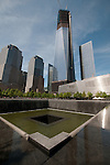 New York City Freedom Towers and the reflecting pools at GroundZero Saturday may12,2012.  © Suzi Altman.