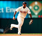 5 September 2009: Cleveland Indians' second baseman Luis Valbuena in action against the Minnesota Twins at Progressive Field in Cleveland, Ohio. The Indians fell to the Twins 4-1 in the second game of their three-game weekend series. Mandatory Credit: Ed Wolfstein Photo