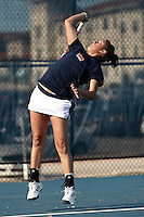 SAN ANTONIO, TX - FEBRUARY 10, 2012: The University of Texas Pan American Broncos vs. The University of Texas at San Antonio Roadrunners Women's Tennis at the UTSA Tennis Center. (Photo by Jeff Huehn)