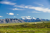 Camping on a ridge in Alaska's high arctic, Endicott Mountains of the Brooks.