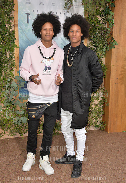 LOS ANGELES, CA. June 27, 2016: Dancers/models Les Twins - Laurent Bourgeois &amp; Larry Bourgeois - at the world premiere of &quot;The Legend of Tarzan&quot; at the Dolby Theatre, Hollywood.<br /> Picture: Paul Smith / Featureflash
