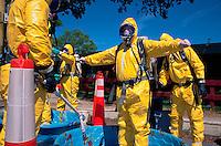 Hazardous waste team, training.