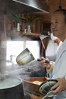 The master at work at Gamo Udon.