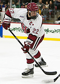 Devin Tringale (Harvard - 22) - The Harvard University Crimson defeated the visiting Boston College Eagles 5-2 on Friday, November 18, 2016, at Bright-Landry Hockey Center in Boston, Massachusetts.{headline] - The Harvard University Crimson defeated the visiting Boston College Eagles 5-2 on Friday, November 18, 2016, at Bright-Landry Hockey Center in Boston, Massachusetts.