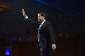 March 14, 2013  (National Harbor, MD)  U.S. Senator Marco Rubio (R-FL) waves as he leaves the stage after addressing attendees at the 2013 Conservative Political Action Conference (CPAC).  (Photo by Don Baxter/Media Images International)