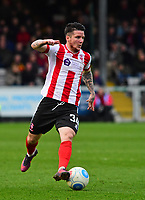 Lincoln City's Billy Knott<br /> <br /> Photographer Andrew Vaughan/CameraSport<br /> <br /> Buildbase FA Trophy Semi Final Second Leg - Lincoln City v York City - Saturday 18th March 2017 - Sincil Bank - Lincoln<br />  <br /> World Copyright &copy; 2017 CameraSport. All rights reserved. 43 Linden Ave. Countesthorpe. Leicester. England. LE8 5PG - Tel: +44 (0) 116 277 4147 - admin@camerasport.com - www.camerasport.com