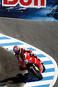 July 25, 2010 - Laguna Seca, USA - Ducati team's American rider, Nicky Hayden, takes a curve during the U.S. Grand Prix held on July 25, 2010. (Photo Andrew Northcott/Nippon News)