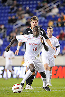 Shamar Shelton (16) of the Cincinnati Bearcats. The Providence Friars defeated the Cincinnati Bearcats 2-1 during the semi-finals of the Big East Men's Soccer Championship at Red Bull Arena in Harrison, NJ, on November 12, 2010.