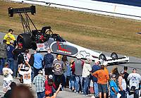 Mar 19, 2017; Gainesville , FL, USA; NHRA top fuel driver Larry Dixon during the Gatornationals at Gainesville Raceway. Mandatory Credit: Mark J. Rebilas-USA TODAY Sports