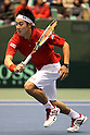 Kei Nishikori (JPN), FEBRUARY 12, 2012 - Tennis : Davis Cup 2012, World Group 1st Round match between Kei Nishikori 3-0 Ivan Dodig (CRO) at Bourbon Beans Dome, Hyogo, Japan. (Photo by Akihiro Sugimoto/AFLO SPORT) [1080]