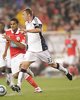 New England Revolution forward Zak Boggs (33). SL Benfica  defeated New England Revolution, 4-0, at Gillette Stadium on May 19, 2010.