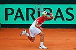 06.04.2012 Oropesa, Spain. 1/4 Final Davis Cup. xxxxxx  in actio during second leg of 1/4 final game played at the Estadio Mestalla.