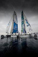 9th October  2010. Almeria. Spain..Pictures of Oman Sail Masirah and The Wave Muscat in during the first days racing.