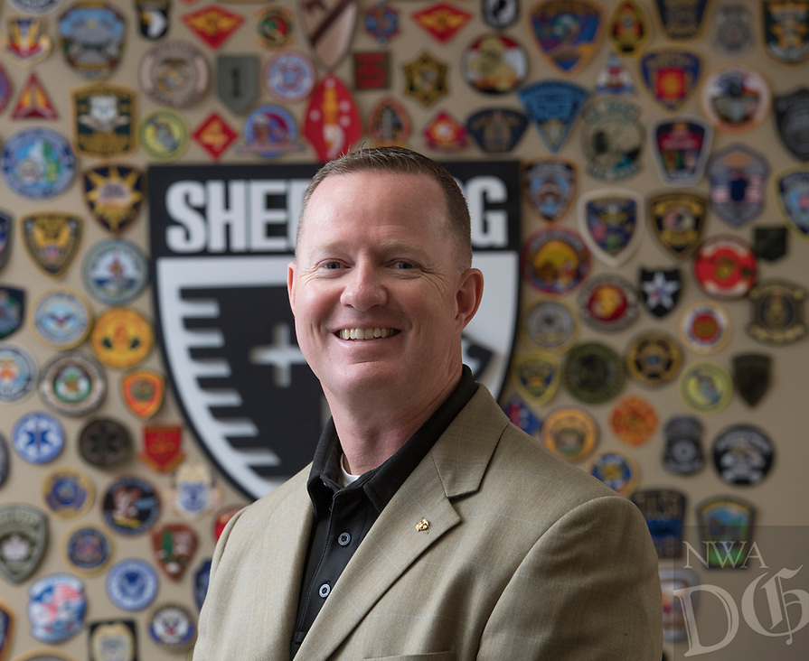 NWA Democrat-Gazette/J.T. WAMPLER Sgt.Maj. Lance Nutt started the organization Sheepdogs Impact Assistance to help first responders and veterans adjust to life-changing events such as retirement or being injured in the line of duty. Nutt is seen here in his office in Rogers Thursday April 13, 2017.