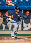 10 March 2014: Houston Astros infielder Gregorio Petit in action during a Spring Training game against the Washington Nationals at Space Coast Stadium in Viera, Florida. The Astros defeated the Nationals 7-4 in Grapefruit League play. Mandatory Credit: Ed Wolfstein Photo *** RAW (NEF) Image File Available ***