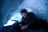 Science writer Hugh Powell writes a dispatch from a snow cave in Antarctica.