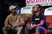 FORT LAUDERDALE FL - AUGUST 17: Swae Lee and Slim Jimmy of Rae Sremmurd pictured during 99 Jamz Uncensored at Revolution on August 17, 2016 in Fort Lauderdale, Florida. Credit: mpi04/MediaPunch
