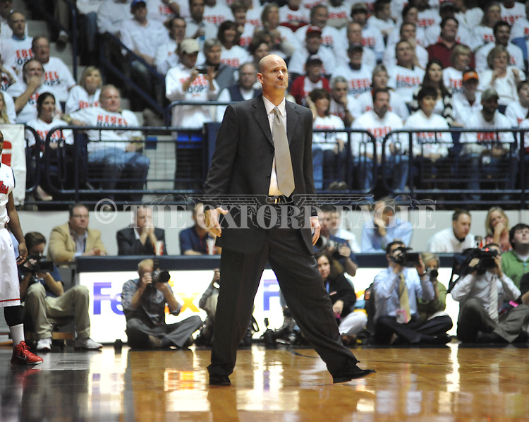 Ole Miss head coach Andy Kennedy vs. Kentucky at the C.M. &quot;Tad&quot; Smith Coliseum on Tuesday, January 29, 2013.
