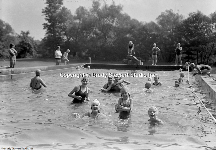 East McKeesport PA:  Girl Scouts playing in the swimming pool at Camp Youghahela - 1925