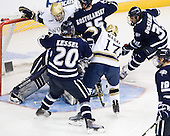 Ben Ryan (Notre Dame - 19), Blake Kessel (UNH - 20), Brett Kostolansky (UNH - 15), Billy Maday (Notre Dame - 17), Phil DeSimone (UNH - 39) - The University of Notre Dame Fighting Irish defeated the University of New Hampshire Wildcats 2-1 in the NCAA Northeast Regional Final on Sunday, March 27, 2011, at Verizon Wireless Arena in Manchester, New Hampshire.
