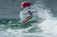 COOLANGATTA, Queensland/Australia (Saturday, February 28, 2015) Courtney Conlogue (USA). - The world's best surfers began competition  on Australia's Gold Coast today in the opening stop of the 2015 World Surf League (WSL)  Championship Tour (CT) season, the Quiksilver and Roxy Pro Gold Coast. The event got underway today at 8 a.m. local time with Men's Round 1 followed by Women's Round 1.<br /> <br /> Reigning WSL Champions and defending event winners Gabriel Medina (BRA) and Stephanie Gilmore (AUS) both competed in Round 1 today. Medina will face rookie compatriot Wiggolly Dantas (BRA) and event wildcard Dane Reynolds (USA), in Men's Round 1 Heat 6, while Gilmore faces a returned-to-form Silvana Lima (BRA) and Bronte Macaulay (AUS), (winner of the Trials) in Women's Round 1 Heat 3. Medina was successful in his heat with Gilmore lost to Lima and will surf in Round 2.<br /> -  Photo: joliphotos.com