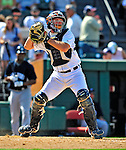 11 March 2009: Detroit Tigers' catcher Max St. Pierre in action during a Spring Training game against the New York Yankees at Joker Marchant Stadium in Lakeland, Florida. The Tigers defeated the Yankees 7-4 in the Grapefruit League matchup. Mandatory Photo Credit: Ed Wolfstein Photo