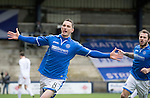 Raith Rovers v St Johnstone....08.03.14    Scottish Cup Quarter Final<br /> Gary McDonald celebrates his goal<br /> Picture by Graeme Hart.<br /> Copyright Perthshire Picture Agency<br /> Tel: 01738 623350  Mobile: 07990 594431