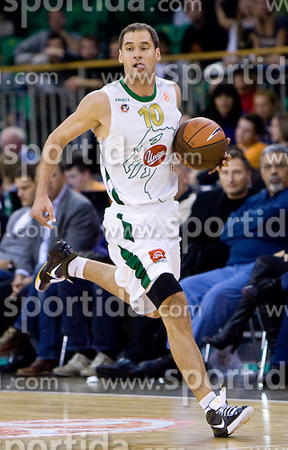 Dusan Djordjevic (10) of Olimpija at Group C of Euroleague basketball match between KK Union Olimpija, Slovenia and Caja Laboral, Spain, on November 5, 2009, in Arena Tivoli, Ljubljana, Slovenia.  (Photo by Vid Ponikvar / Sportida)