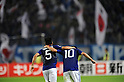 (L-R) Yuto Nagatomo, Shinji Kagawa (JPN),.OCTOBER 11, 2011 - Football / Soccer :.Shinji Kagawa of Japan celebrates with his teammate Yuto Nagatomo after scoring their fourth goal during the 2014 FIFA World Cup Asian Qualifiers Third round Group C match between Japan 8-0 Tajikistan at Nagai Stadium in Osaka, Japan. (Photo by Takahisa Hirano/AFLO)