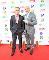 03/06/2014  <br /> Carl Frampton &amp; Barry McGuigan<br /> during the Pride of Ireland awards at the Mansion House, Dublin.<br /> Photo: Gareth Chaney Collins