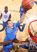 C/F Miles Plumlee (Arden, NC / Christ School) shoots the ball during the NBA Top 100 Camp held Saturday June 23, 2007 at the John Paul Jones arena in Charlottesville, Va. (Photo/Andrew Shurtleff)