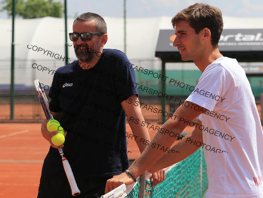 Tennis<br /> Novak Djokovic trending and press<br /> Marko Djokovic and Bogdan Obradovic<br /> Beograd, 05.09.2014.<br /> Foto: Srdjan Stevanovic/Starsportphoto.com&copy;