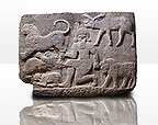 Picture & image of a Neo-Hittite orthostat describing the legend of Gilgamesh from Karkamis,, Turkey. Ancora Archaeological Museum. d