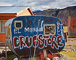 A uniquely decorated trailer on the outskirts of El Chalten, Argentina.
