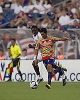 Monarcas Morelia forward Elias Hernandez (77) at midfield. Monarcas Morelia defeated the New England Revolution, 2-1, in the SuperLiga 2010 Final at Gillette Stadium on September 1, 2010.