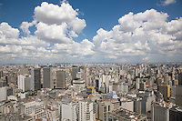 Downtown São Paulo seen from the top of the Edificio Italiano. With a population of eleven million residents São Paulo is the most populous city in the Southern hemisphere. São Paulo, Brazil, 2008