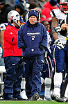 20 December 2009: New England Patriots Head Coach Bill Belichick watches from the sidelines during a game against the Buffalo Bills at Ralph Wilson Stadium in Orchard Park, New York. The Patriots defeated the Bills 17-10. Mandatory Credit: Ed Wolfstein Photo
