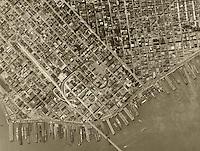 historical aerial photograph San Francisco, California 1946