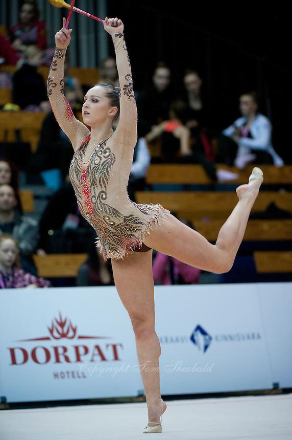 "February 13, 2016 - Tartu, Estonia - VIKTORIA BOGDANOVA of Estonia performs in the All-Around at ""Miss Valentine"" 2016 international tournament."
