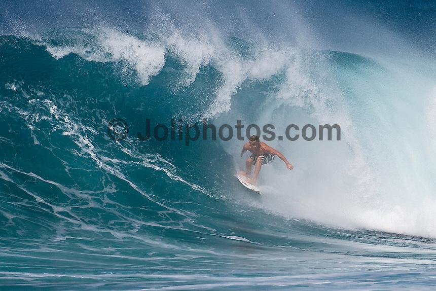 JUILAN WILSON (AUS) surfing at Off The Wall-Backdoor, North Shore of Oahu, Hawaii. Photo: joliphotos.com