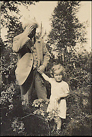 BNPS.co.uk (01202 558833)<br /> Pic: Dreweatts&amp;Bloomsbury/BNPS<br /> <br /> David Lloyd George with his secret lovechild Jennifer.<br /> <br /> Never-seen-before photographs showing the former Prime Minister David Lloyd George playing with his secret lovechild have been unearthed in a remarkable archive.<br /> <br /> The Liberal politician had an affair with his secretary Frances Stevenson, who he nicknamed 'Pussy', and the pair went on to have daughter Jennifer in 1929.<br /> <br /> But Lloyd George never publicly acknowledged Jennifer as his own and even her mother went through the ruse of adopting her to further distance the former Prime Minister from the girl.<br /> <br /> The photos and letters between the pair are now coming up for sale at auctioneers Dreweatts and Bloomsbury.