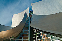 Walt Disney Concert Hall, California, Los Angeles, Downtown,  Designed by Fank O. Gehry Associates, 1987-2003