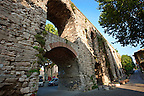 The Valens Aqueduct completed by Roman Emperor Valens in the late 4th century AD, it was restored by several Ottoman Sultans, Istanbul, Turkey