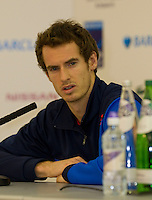 Andy Murray Press conference - announcing his retirement from the Barclays ATP World Tour Finals...Barclays ATP World Tour Finals, 02, London. 22.11.2011, 11.22.2011, 22nd November 2011..@AMN IMAGES, Frey, Advantage Media Network, Level 1, Barry House, 20-22 Worple Road, London, SW19 4DH.Tel - +44 208 947 0100.email - mfrey@advantagemedianet.com.www.amnimages.photoshelter.com.